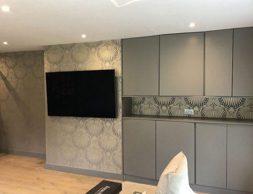 Wallpapering TV Room